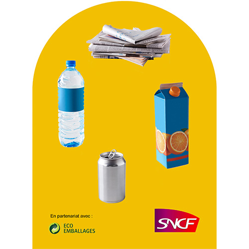 Eco emballage corbeille vigipirate Qualys