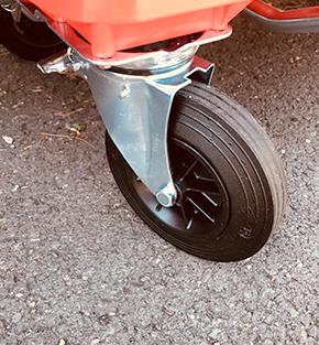 Option roue sur bac 4 roues Quadria