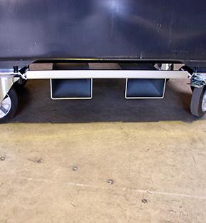 Option sabot sur bac 4 roues Quadria