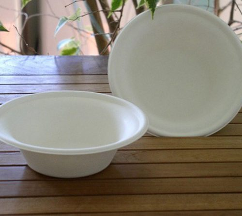 Assiettes creuses biodégradable Quadria